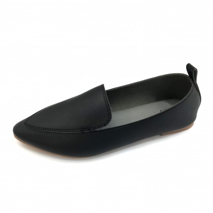VERN'S Pointed Toe Loafer Flat Pumps - S11031010