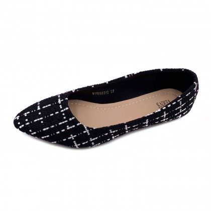 VERN'S Pointed Toe Loafer Flat Pumps - S11032310