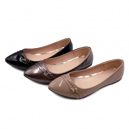 VERN'S Pointed Toe Flat - S11031110