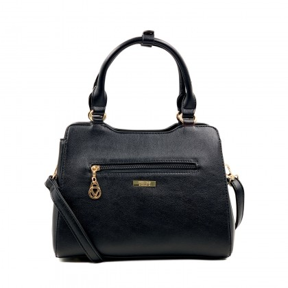 VERN'S Ladies Top Handle Crossbody PU Shoulder Bag - B04045110