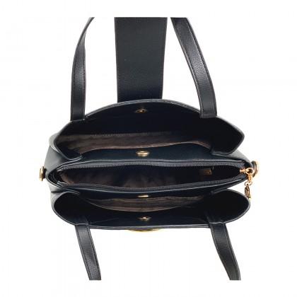 VERN'S Ladies Top Handle Crossbody PU Leather Shoulder Bag - B04045210