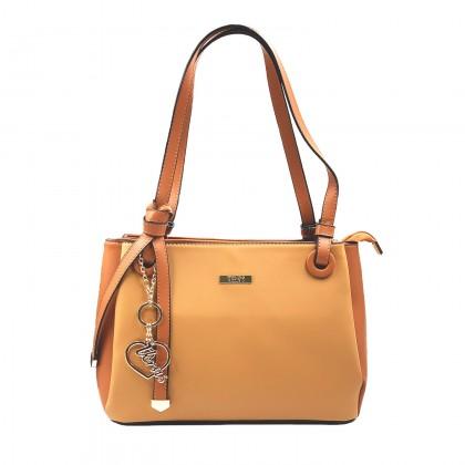 VERN'S Ladies Top Handle PU Leather Shoulder Bag - B04045310